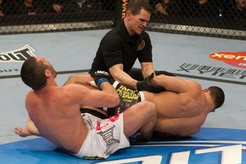 Tomasz Drwal was left in agony by Rousimar Palhares' heel hook