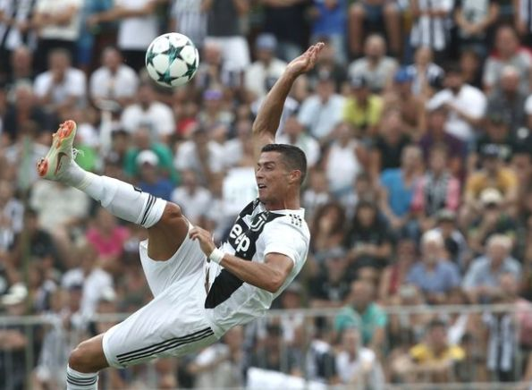 Ronaldo scored his first goal for Ju