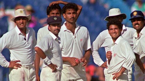 Indian pace attack was led by Kapil Dev and Manoj Prabhakar
