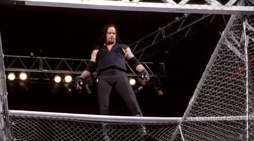 The most famous Hell in a Cell encounter between The Undertaker and Mick Foley