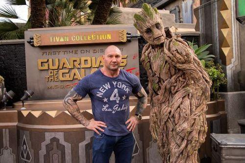 Dave Bautista Visits Disney California Adventure