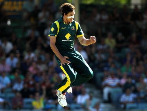 Starc during an Australian training session