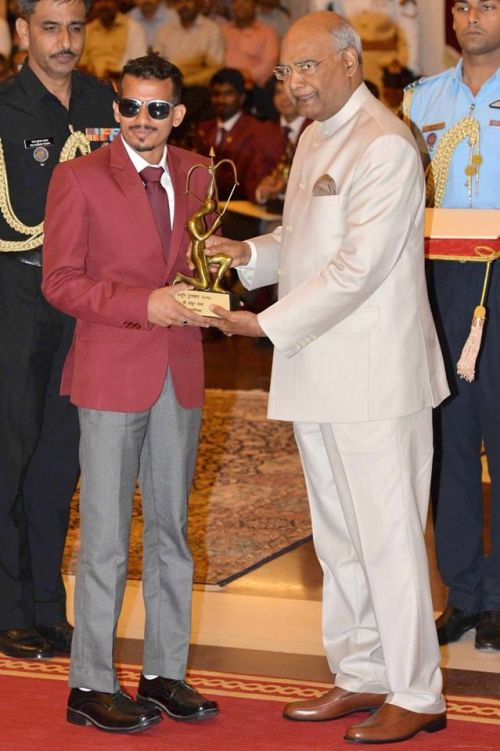 Bronze Medals in 5000 m and 1500 m at the Asian Para Games 2014, a Silver Medal (800 m) at Asian Para Games 2014 are some of his tremendous achievements