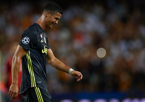 1d915c0d617 Cristiano Ronaldo sees red on Champions League debut for Juventus ...