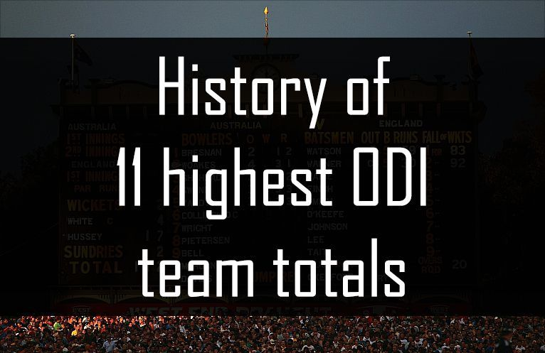 History of 11 highest ODI team totals