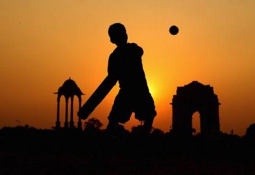 Indian Cricket Scenes in Delhi