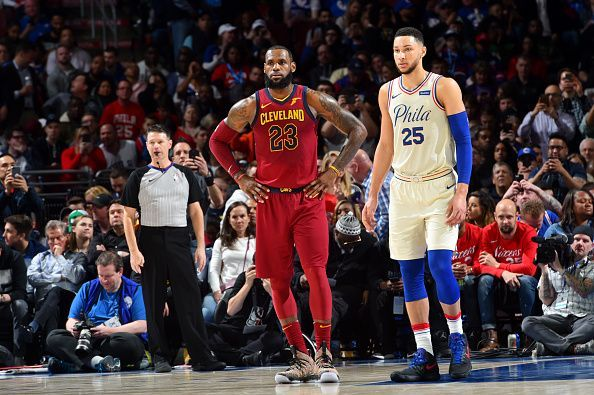 2795a775db6 LeBron James and Ben Simmons in a regular season game last season.