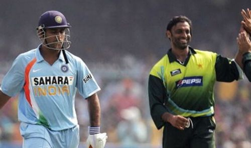 Image result for akhtar and dhoni