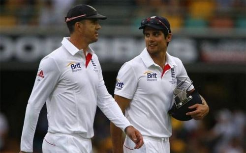 Pietersen and Cook during their playing days