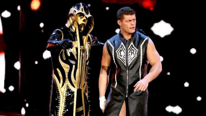Goldust (left) with Cody Rhodes (right)