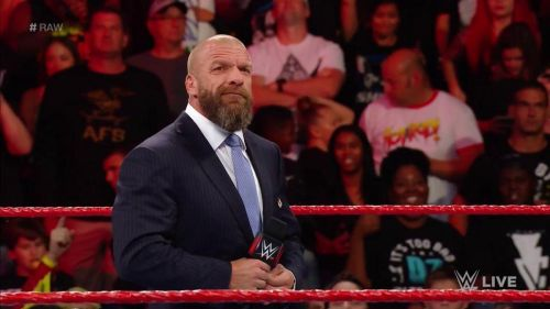 Triple H shows up on RAW