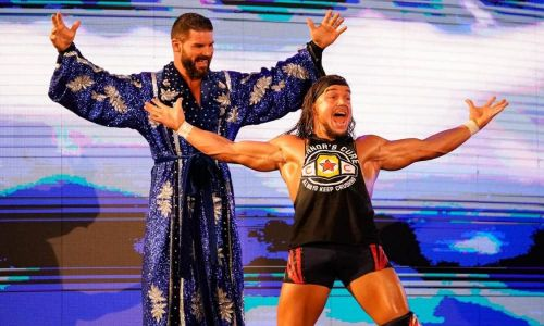 Image result for bobby roode and chad gable
