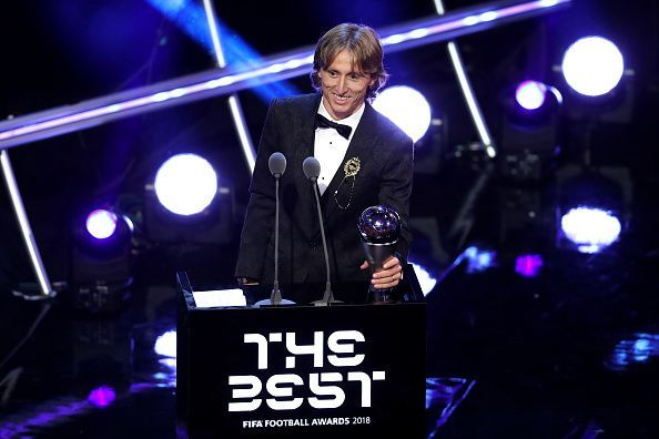 Luka Modric beats Mo Salah and Cristiano Ronaldo to win FIFA's Best Award