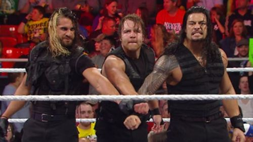 (Courtesy: WWE.com) The Shield with its infamous fist bump