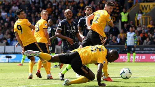Willy Boly's handball went unspotted by the officials but rewarded Wolves for their efforts