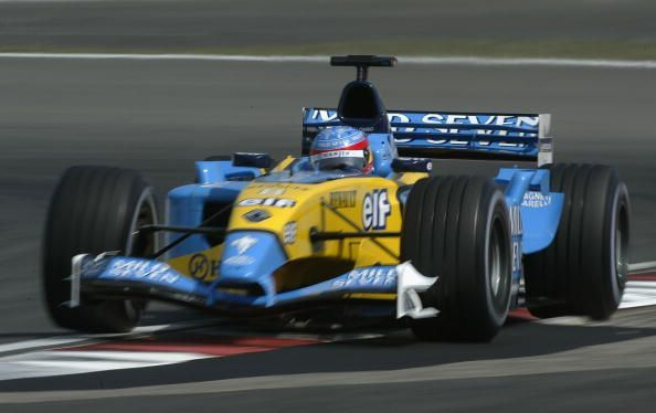 Alonso of Spain and Renault in action