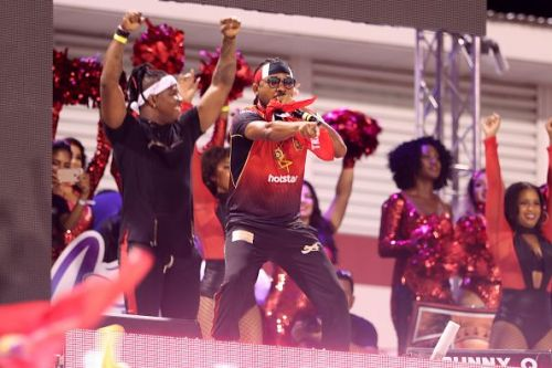 Trinbago Knight Riders supporters reaction after their win in Qualifier two