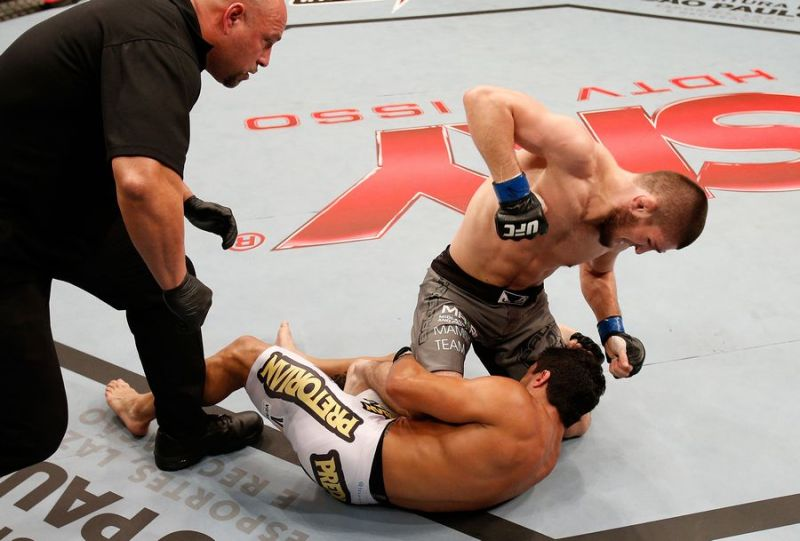 Nurmagomedov finished Thiago Tavares in just under two minutes