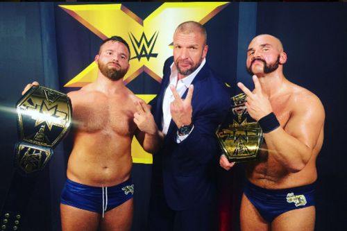 The Revival won the NXT Tag Team championship belts twice
