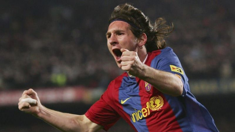 Image result for messi first hat trick