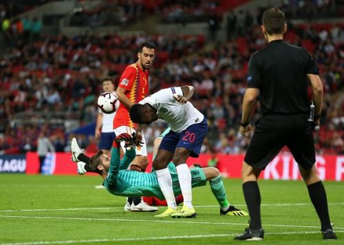 Welbeck goal disallowed England Spain