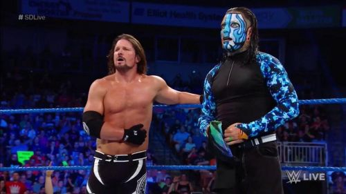 Image result for aj styles jeff hardy wwe