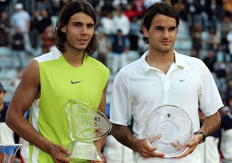 Nadal and Federer, 2006.