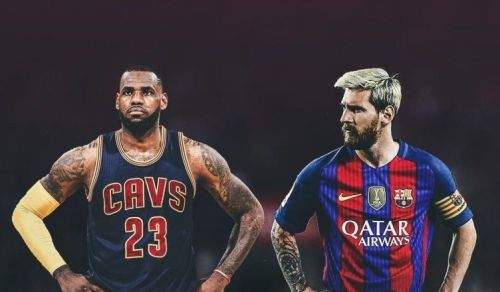 Image result for lebron james and messi