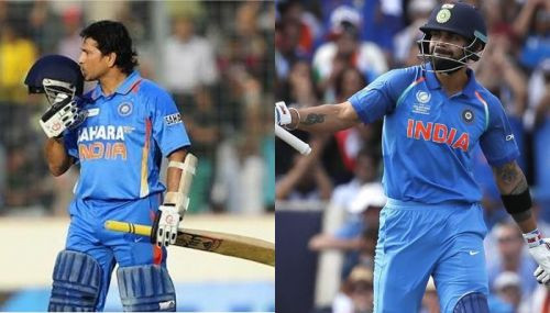 Sachin and Virat, two of the best limited overs cricketers.