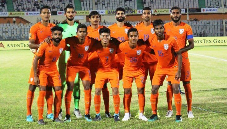 The Indian squad playing SAFF Championship