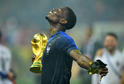 Pogba with the world cup.