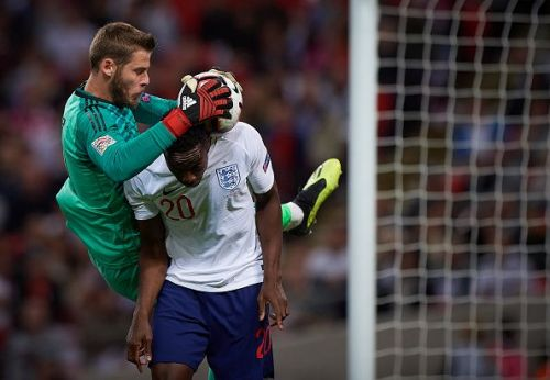 Danny Welbeck disallowed goal England vs Spain David De Gea