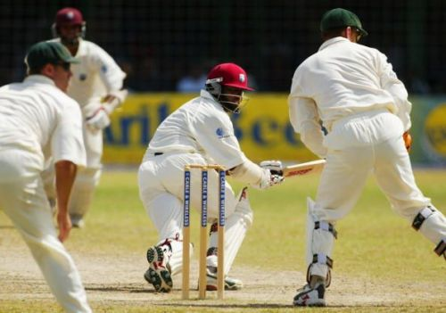 Brian Lara of the West Indies in action