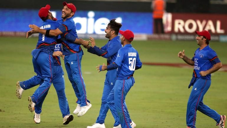 Afghanistan players celebrated the wicket of Ravindra Jadeja as though they had won the match