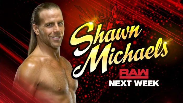 Shawn Michaels is set to appear on RAW next week...