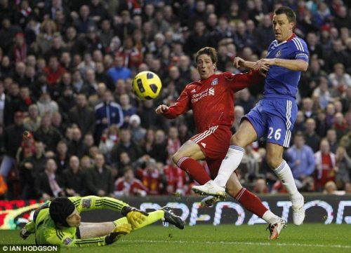 Fernando Torres scored twice in his last game for Liverpool against Chelsea.