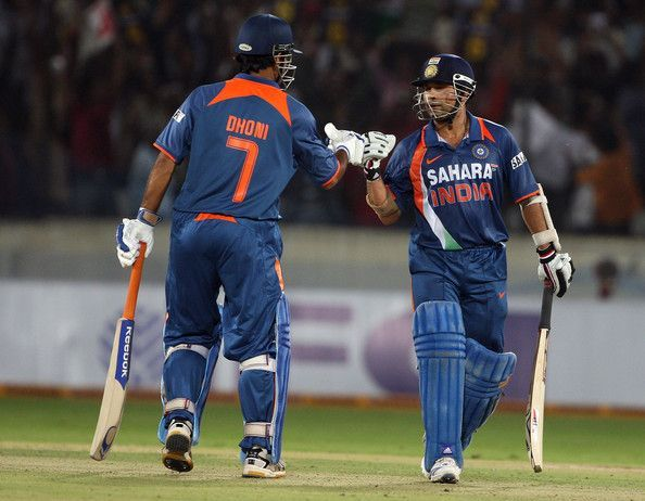 Image result for sachin tendulkar and dhoni odi