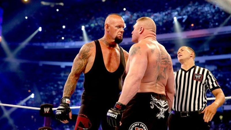 The Undertaker and Lesnar have been the faces of the WWE