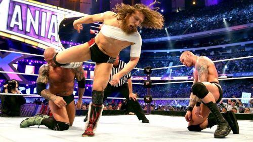 Bryan vs Batista vs Orton