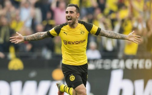 Alcacer has been in red-hot form for Dortmund this season.