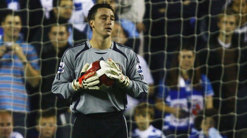 Terry became the goalkeeper for Chelsea against Reading FC after both his keepers were injured
