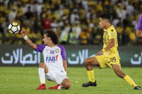 Emirate's Ali Saleh on the right who plays for Al-Wasl scored twice along with two assists
