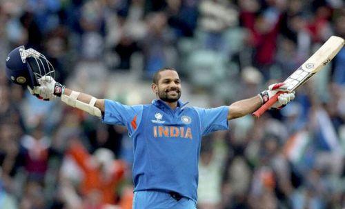 Dhawan is just 173 runs away from 5,000 ODI runs