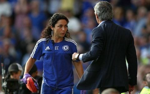 Mourinho famously had an argument with Carneiro on the touchline. (PHOTO: Rex)