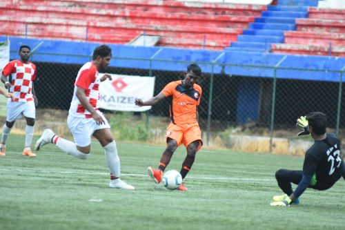 Lokesh of South United FC scores the game's only goal