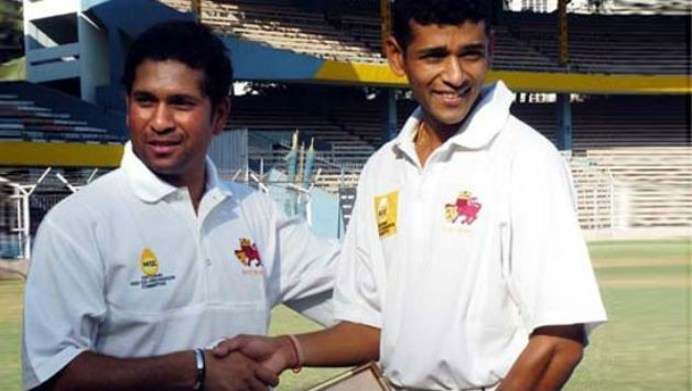 Amol Muzumdar with Sachin Tendulkar