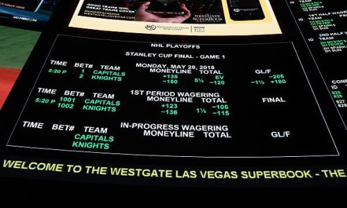 Betting lines from the Stanley Cup Final at The Westgate Las Vegas