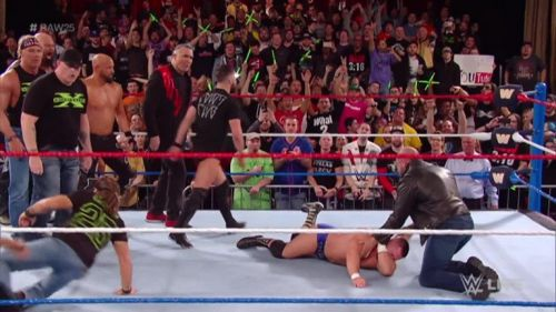 DX laid waste to The Revival at RAW 25