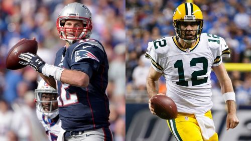 Image result for tom brady and aaron rodgers