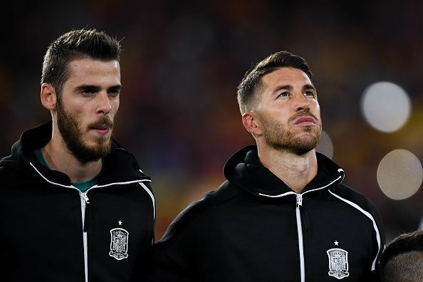 De Gea (l) and Sergio Ramos (r)